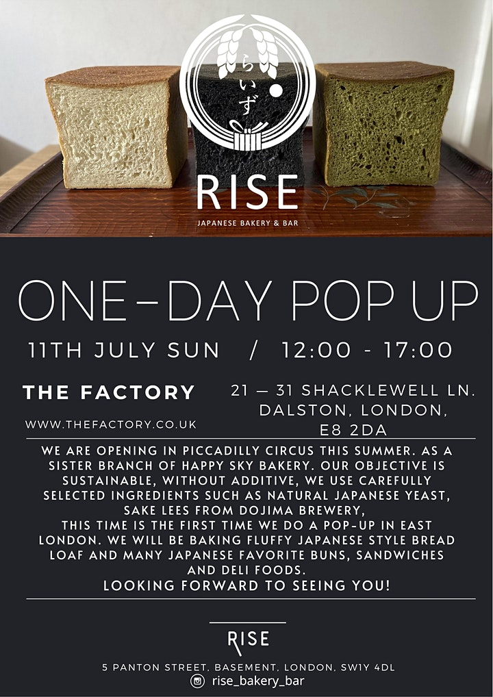 RISE ONE-DAY POP UP at THE FACTORY image