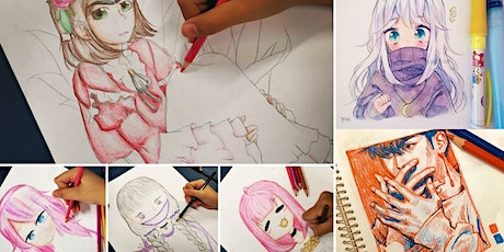 Manga Anime Drawing Course starts Aug 6 (8 sessions) tickets