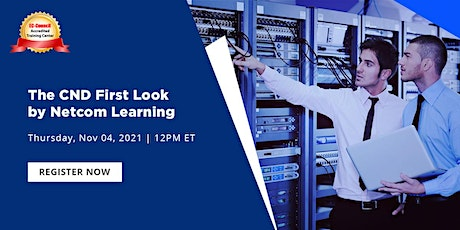 Webinar-CND First Look by NetCom Learning - Network Defender Free Course tickets