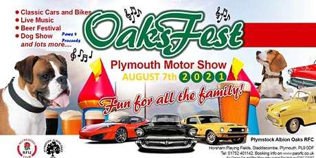 Oaksfest Live Music and Plymouth Motor Show August 2021 tickets