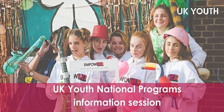 UK Youth National Programmes information session tickets