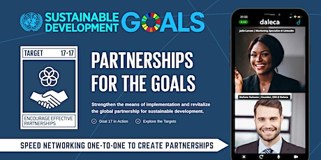 SDGs Speed Networking - Encourage effective partnerships for the goals tickets
