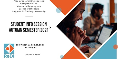 Students Info Session Autumn Semester 2021 tickets