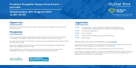 South East London Product Supplier Deep Dive -  AccuRx tickets