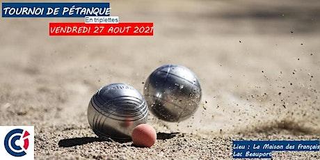 Tournoi de pétanque - Édition 2021 billets