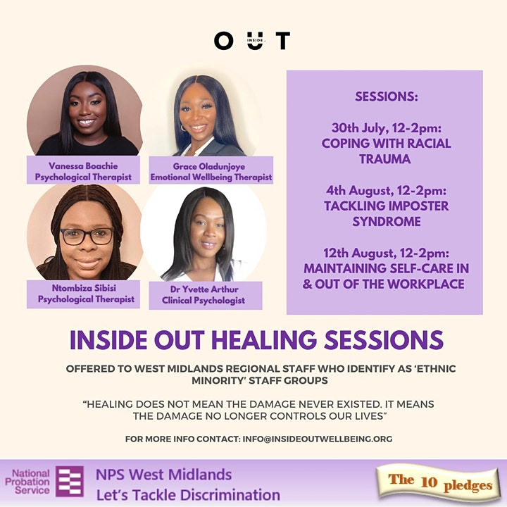 Healing Session: Self-care: Maintaining Wellbeing In & Out of the Workplace image