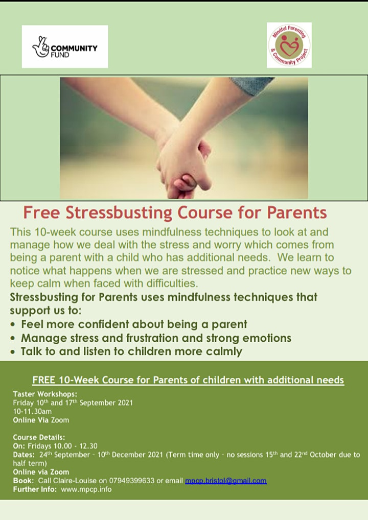 Stressbusting for Parents of Children with Additional Needs image