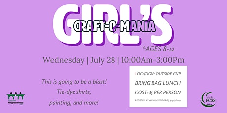 Girl's Craft-O-Mania tickets