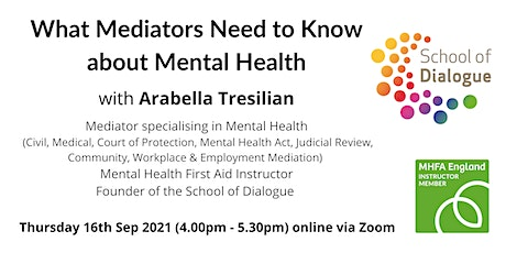 What Mediators Need to Know about Mental Health tickets