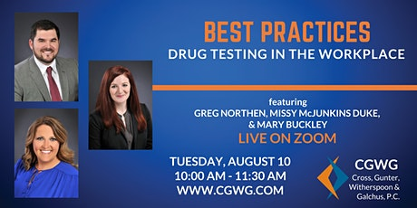 Best Practices: Drug Testing in the Workplace tickets