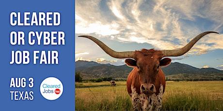Texas Cleared or Cyber Job Fair | Virtual tickets