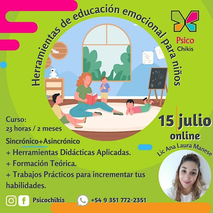 Imagen de Curso virtual: Herramientas de educacion emocional para niños.
