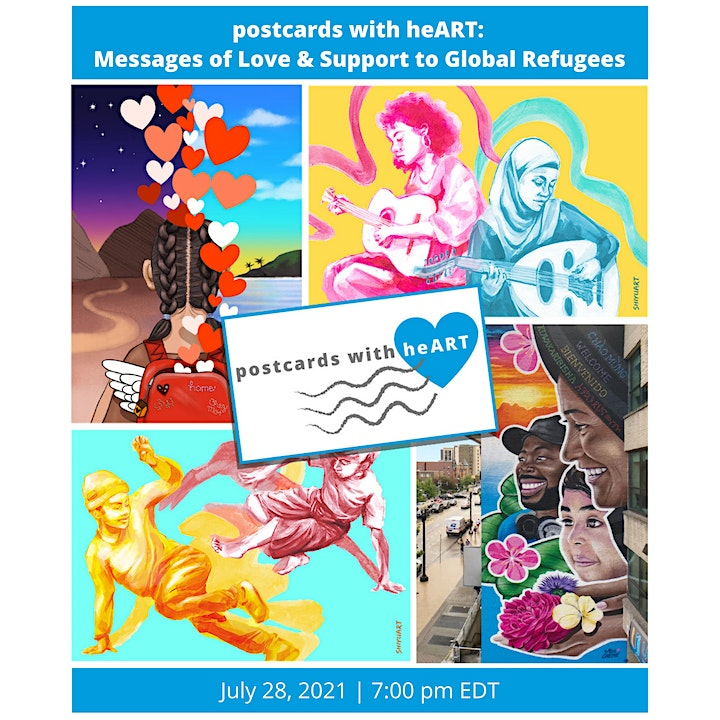 postcards with heART: Messages of Love & Support to Global Refugees image
