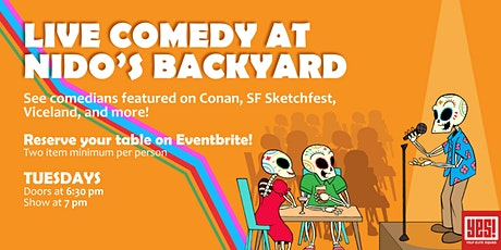 Live Comedy at Nido's Backyard tickets