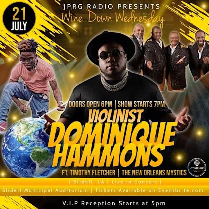 "JPRG Radio Presents: Violinist  Dominique Hammons, ""Live In Concert"" image"
