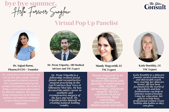 """The Skin Consult """"Bye Bye Summer, Hello Forever Sunglow""""  Virtual Pop Up image"""