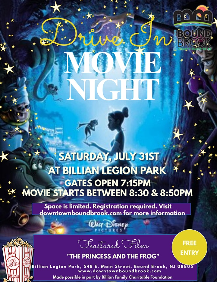 DRIVE IN MOVIE NIGHT AT BILLIAN LEGION PARK- THE PRINCESS AND THE FROG image