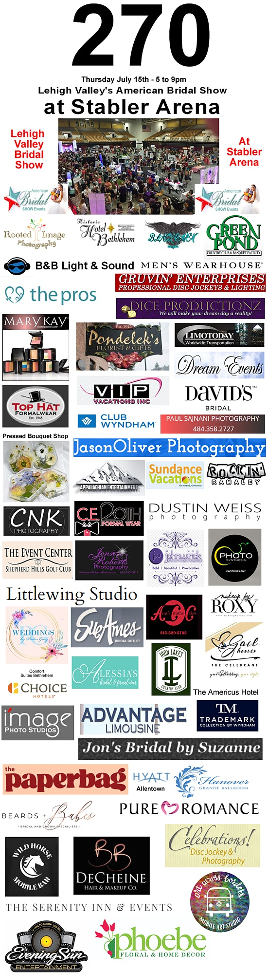 Lehigh Valley's Largest Summer Bridal Show at Stabler Arena image