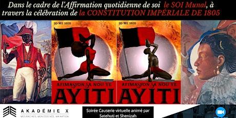 """Notre Webinaire """"Afimasyon tèt nou o kotidyen entan ke Ayisyen"""" billets"""