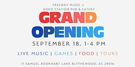GRAND OPENING: Freeway Music-NE & Doko Station tickets