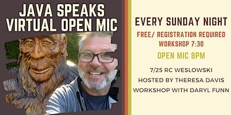 Java Speaks Virtual Open Mic featuring RC  Weslowski tickets