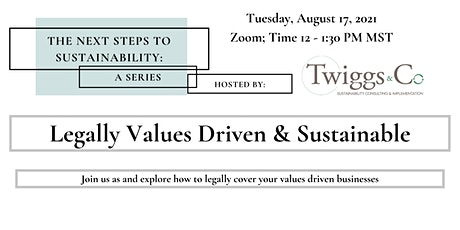 Legally Values Driven & Sustainable - Next Steps To Sustainability tickets