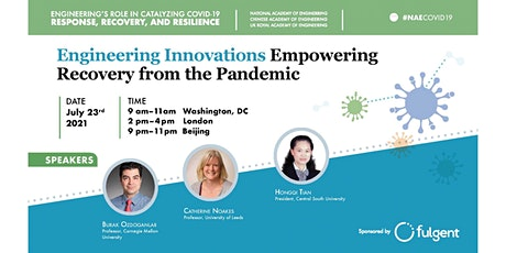 Engineering Innovations Empowering Recovery from the Pandemic tickets