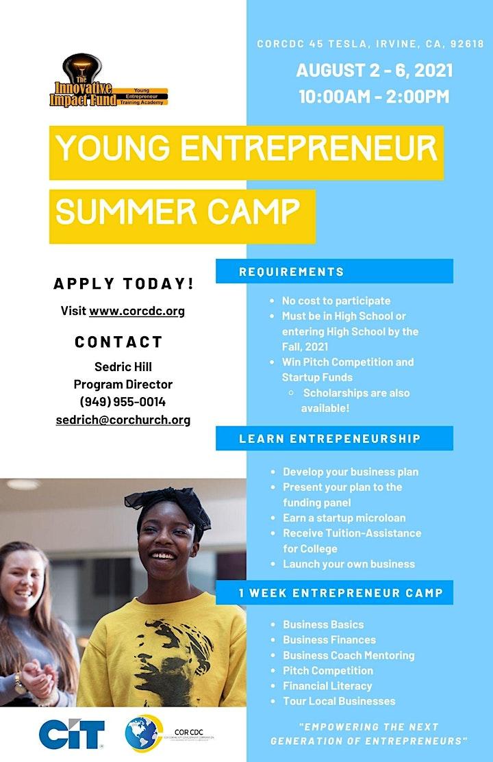 Young Entrepreneur Academy Summer Camp 2021 image