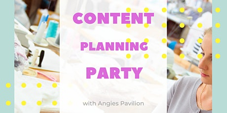 Content Planning Party tickets