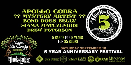 5th Anniversary Festival - 5 Bands for 5 Years for 5 Bucks! tickets
