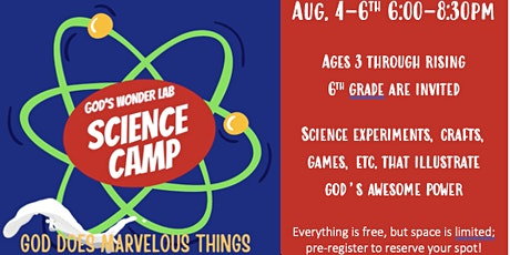 """""""Science Camp"""" VBS tickets"""