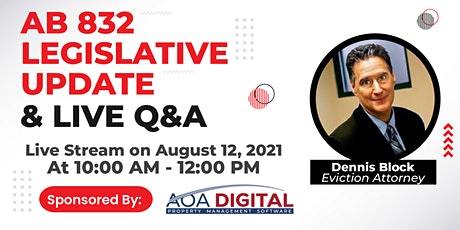 AB 832 Legislative Update and Live Q&A tickets