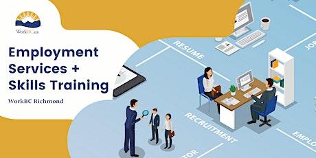 WorkBC Richmond: Employment Services + Skills Training Info Session tickets