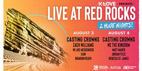 VOLUNTEER - Live at the Red Rocks - Casting Crowns  &  Many More! (Night 2) tickets
