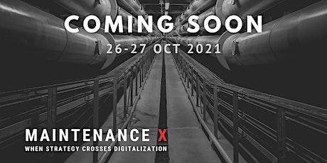 Maintenance X: When Strategy Crosses Digitalization tickets