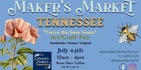 """Maker's Market Tennessee - """"You're the bees knees"""" Art/Craft Fair tickets"""