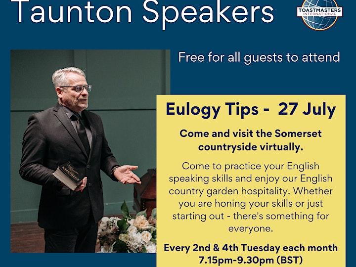 Taunton Speakers Temporarily Online Toastmasters Meeting image