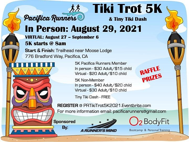 Pacifica Runners Tiki Trot 5K - RRCA State Championship! image