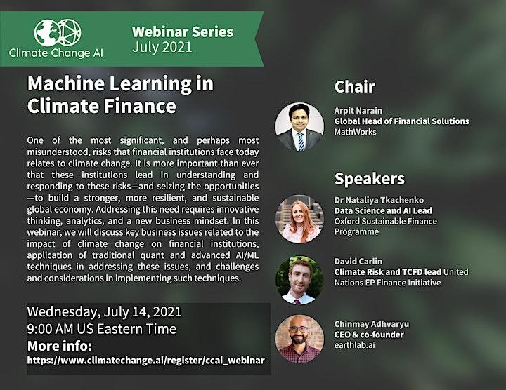 CCAI Webinar: Machine learning in climate finance image