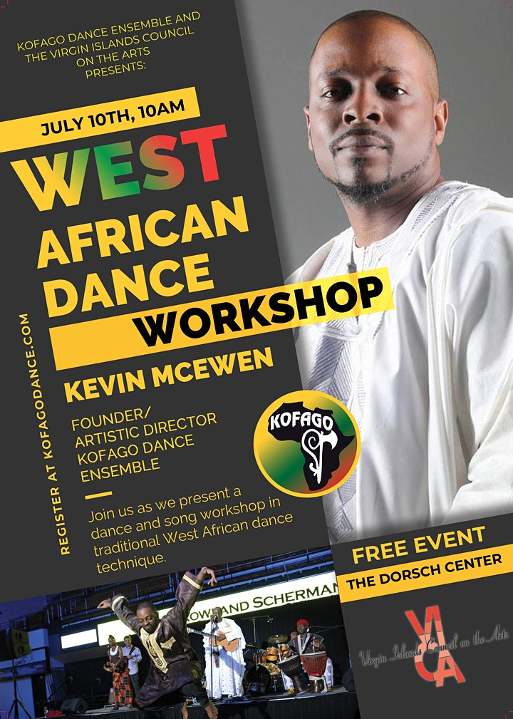 St. Croix West African Dance Workshop with Kevin McEwen image