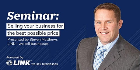 Selling your business for the best possible price - Bay of Plenty tickets