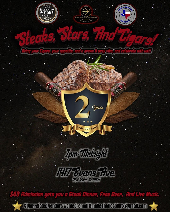 Steaks, Stars, And Cigars! image