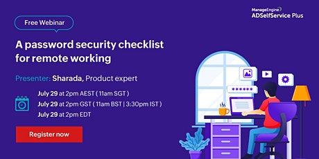 A password security checklist for remote working tickets