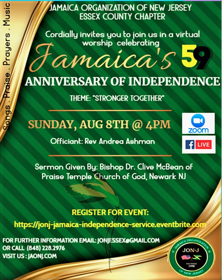 Jamaica's 59th  Anniversary  of independence  Celebration Worship  Service image