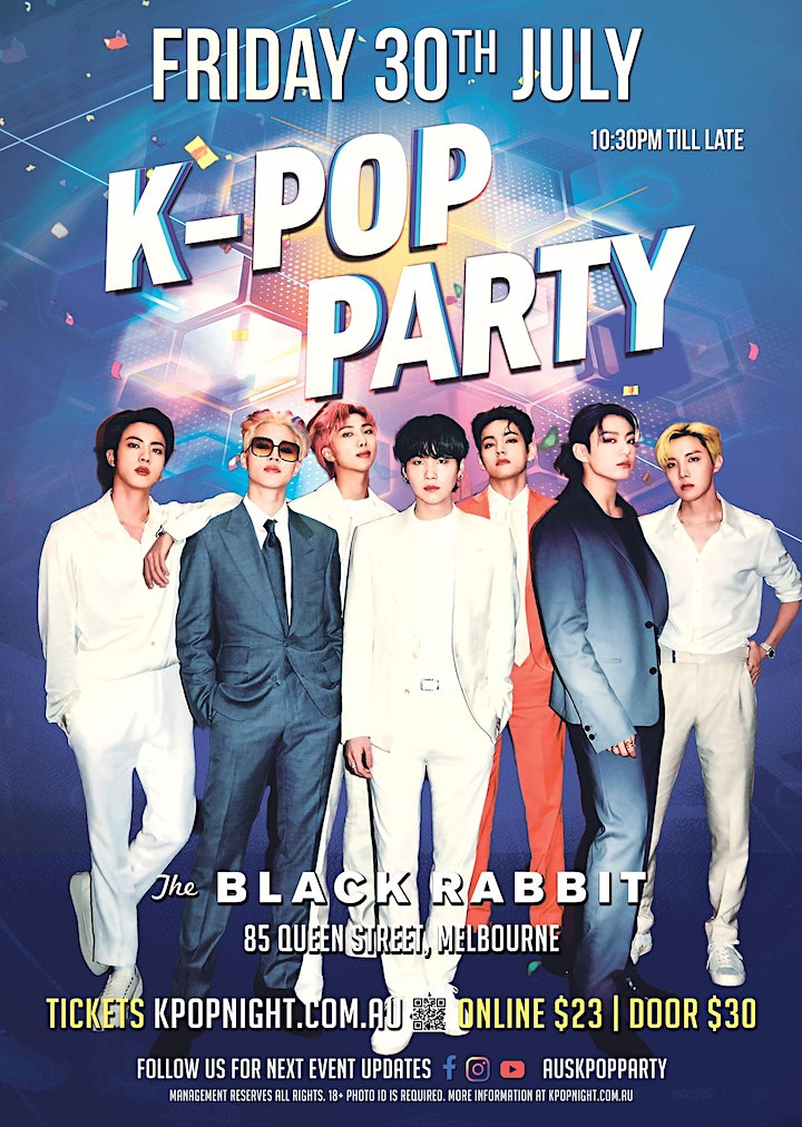 Melbourne K-Pop Party 30th July [80% Tickets Sold] image