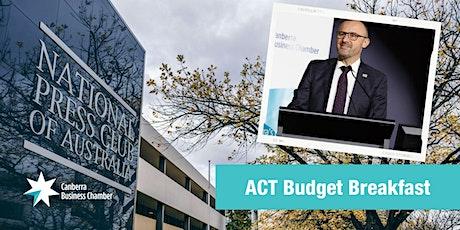2021 ACT Budget Breakfast tickets