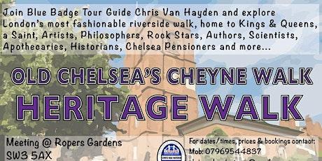 Old Chelsea's Cheyne Walk - Heritage Walk tickets