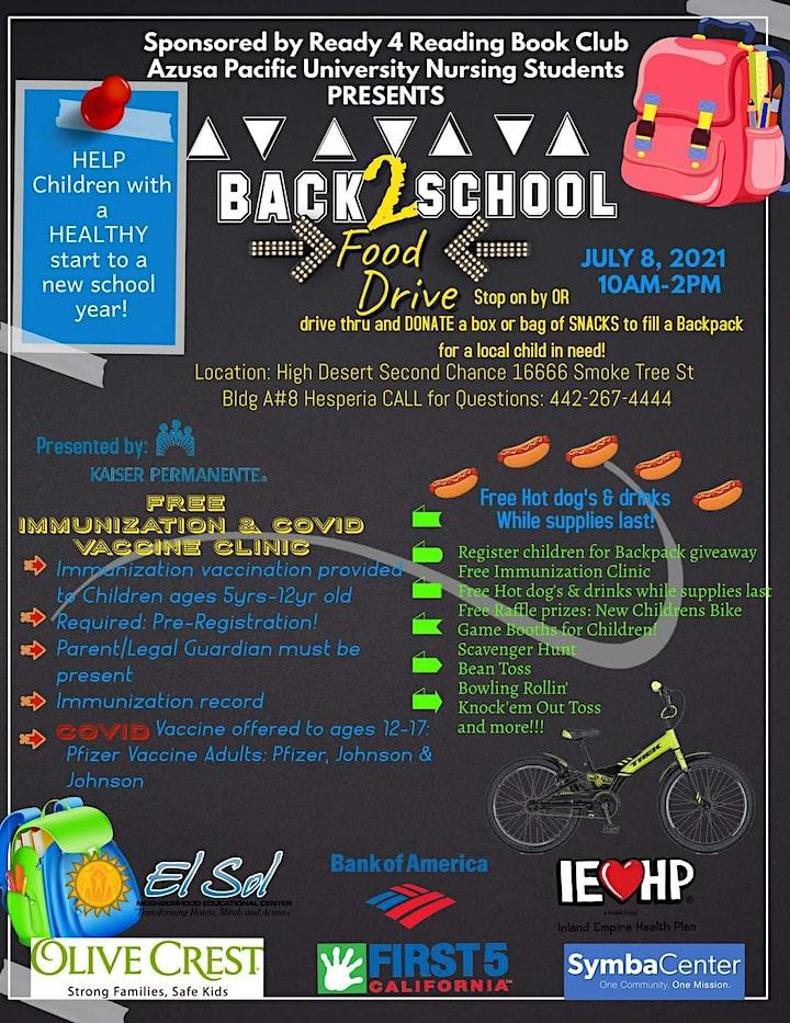 Back2School Food Drive & School Immunization Clinic image
