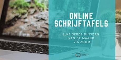 Online Schrijftafels tickets