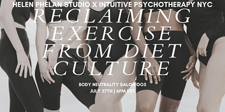 Body Neutrality Salon 004: Reclaiming Exercise From Diet Culture tickets